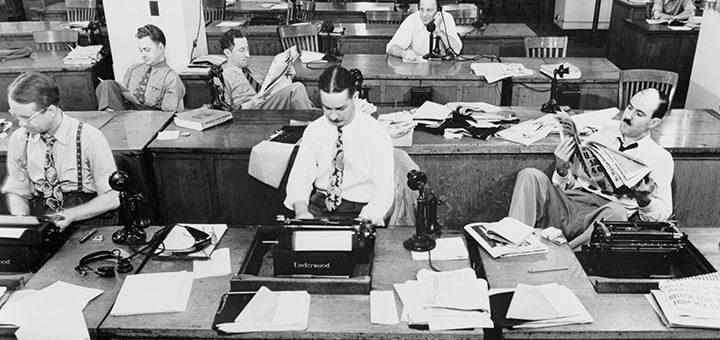 Redação do New York Times em 1942
